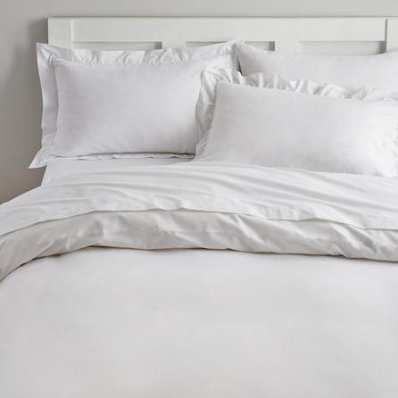 Non Iron Plain Dye White Duvet Cover Blue Bedding White Duvet
