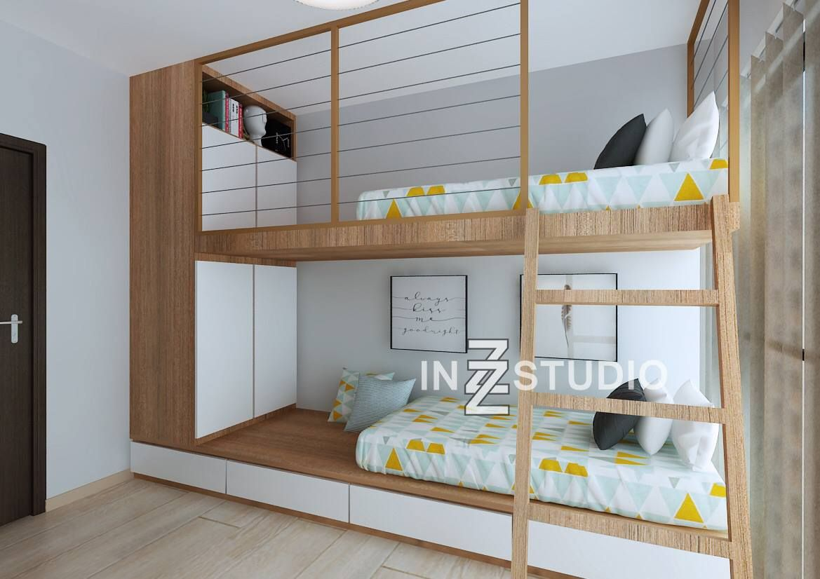 Bunk beds are great ways to add more space to a room for Ways to design a small bedroom