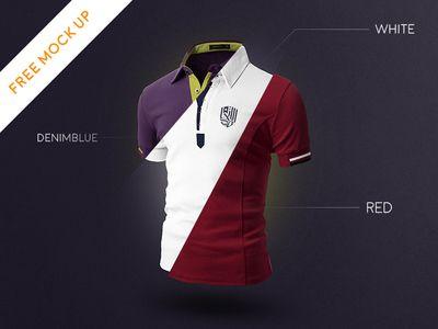 Download Free Download Psd Mock Up T Shirt 3 Colors Shirt Mockup Psd Designs Employee Shirt