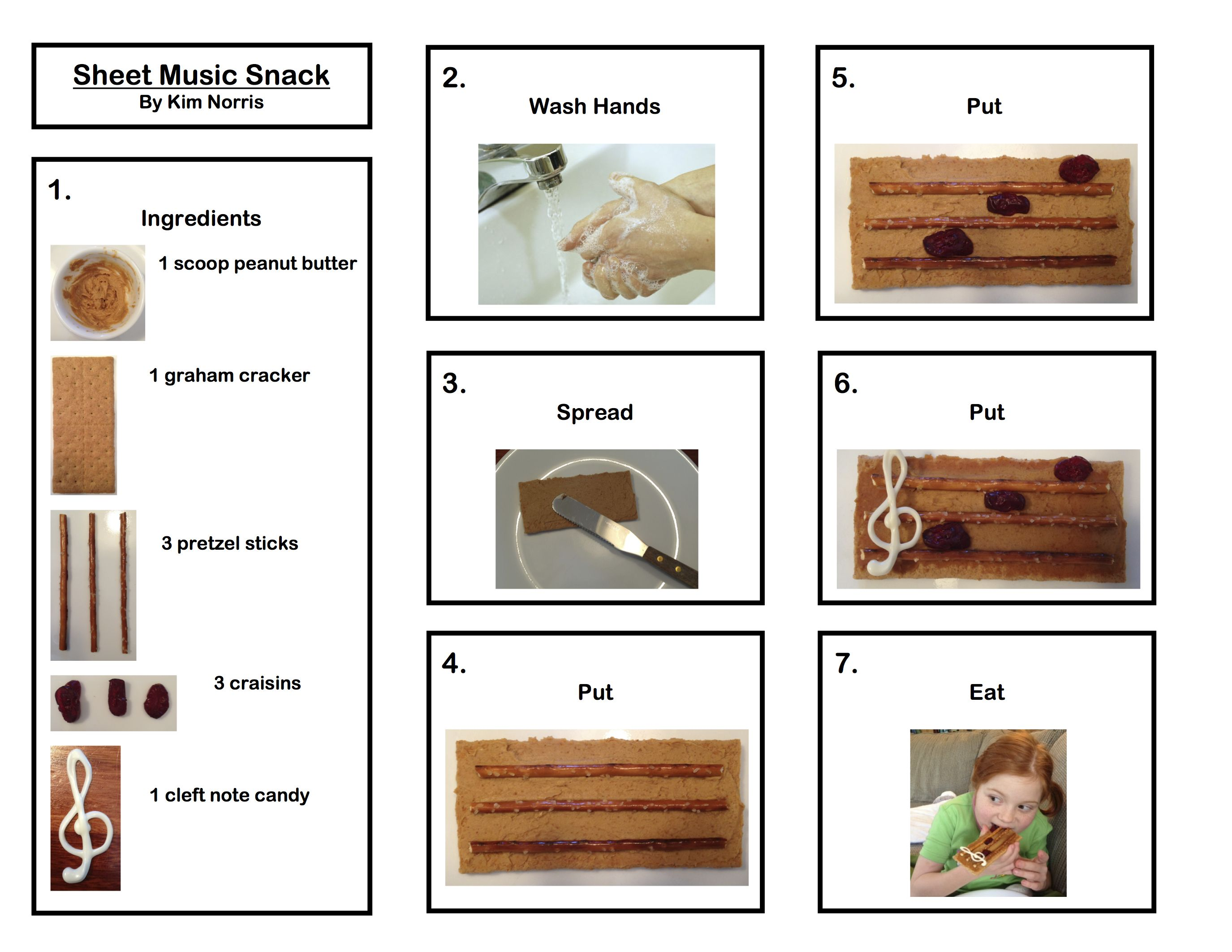 Sheet Music Snack For Music Theme Unit