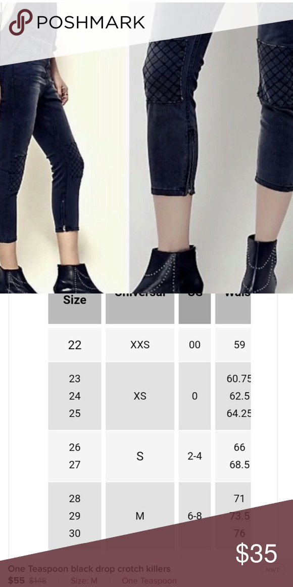 One Teaspoon Drop Crotch Jeans Nwot Color Is Dark Fantasy Perfect Size Medium Would Fit 28 See Size Chart One T Drop Crotch Jeans Drop Crotch Oneteaspoon