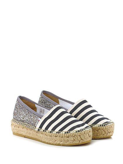 sneakers for cheap 7caef da67d ESPADRILLES - Scarpa bassa - Donna - Scarpa bassa in glitter e tessuto con  suola in