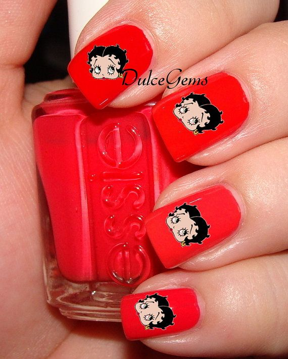 Betty Boop Nails: Betty Boop Nail Decals $4.80