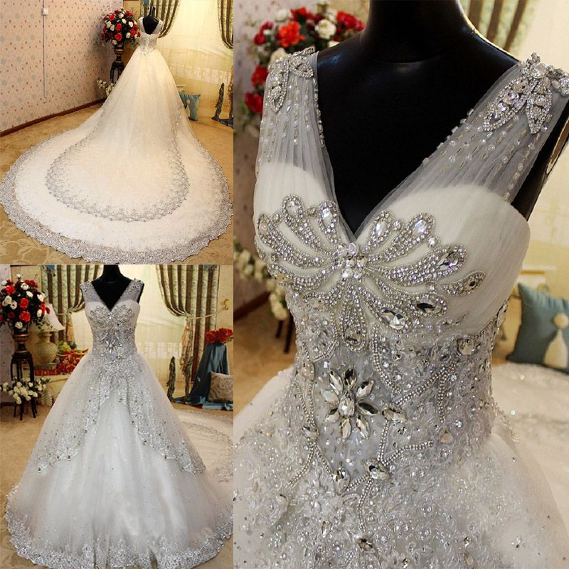 Winter wedding dress 2014 new Korean version of the luxury crystal ...