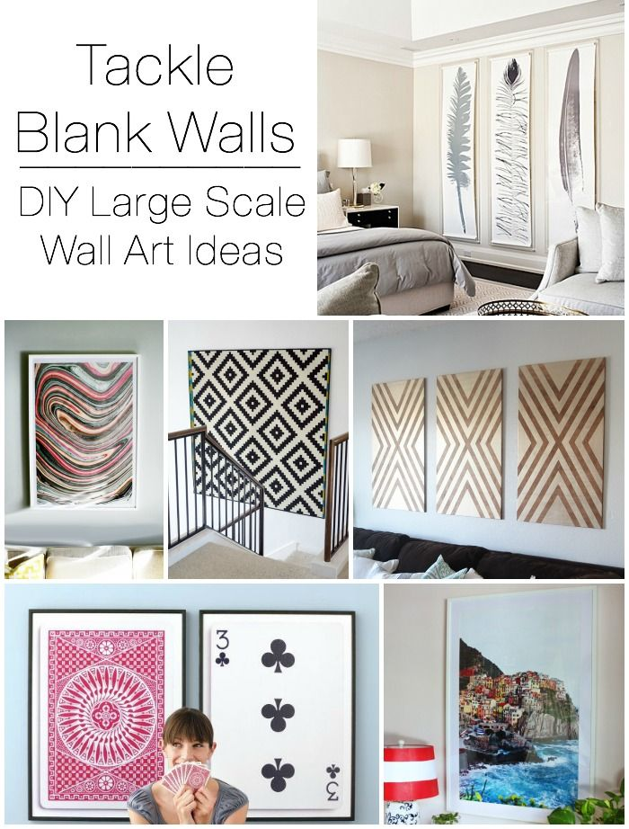 Decorating large walls large scale wall art ideas diy - Large wall art ideas ...