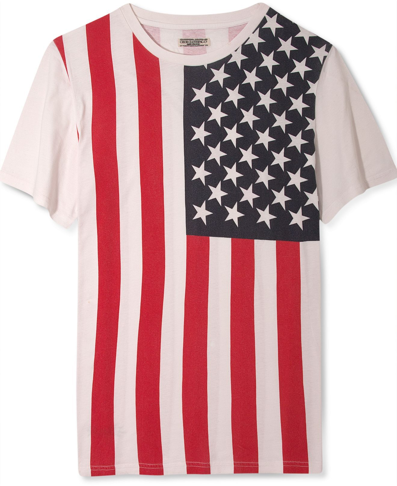 Chor shirt short sleeve american flag print t shirts men