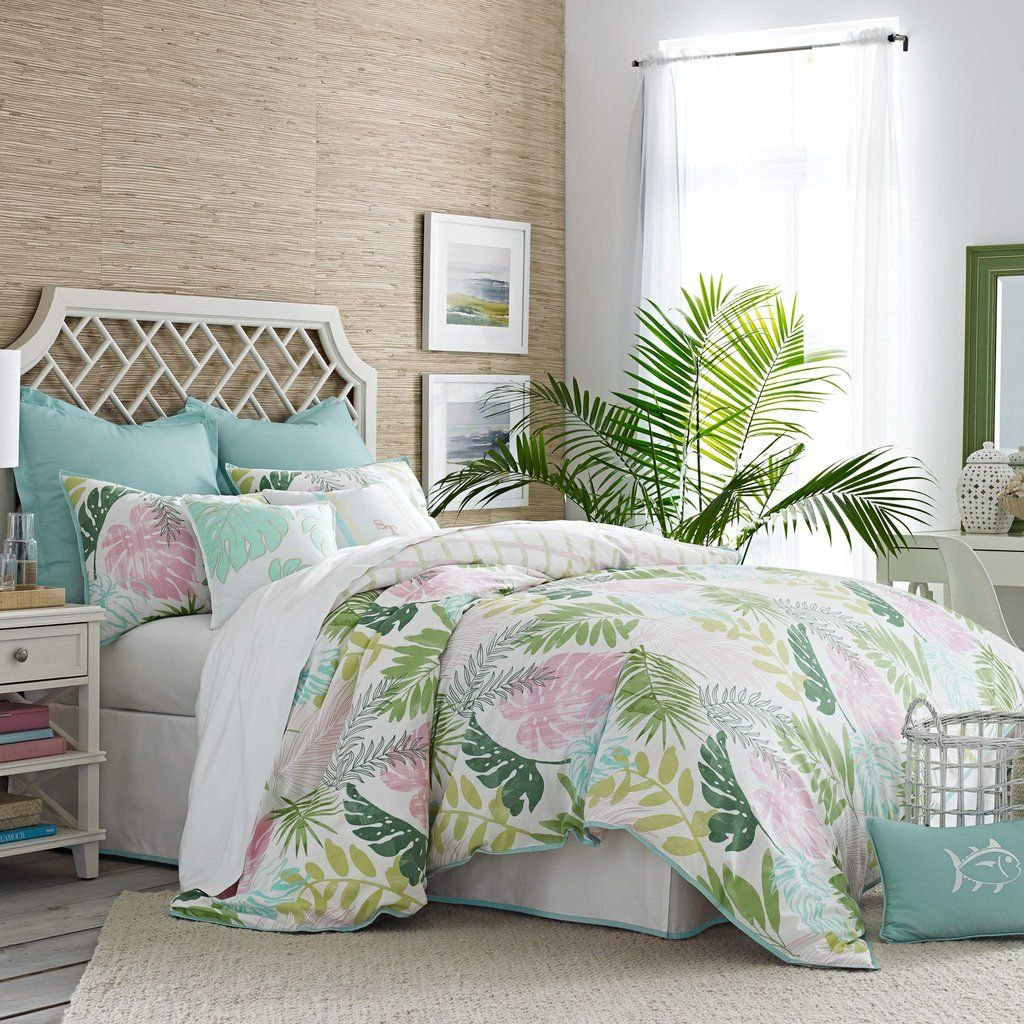 The Southern Tide Tropical Retreat Comforter Set adds ...