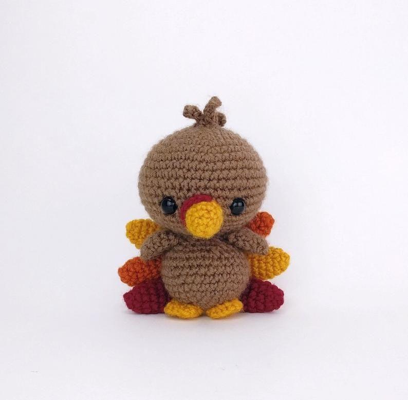 PATTERN: Terrence the Turkey  Crochet turkey pattern  | Etsy