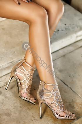 Pantofi cu toc femei de bal, cu toc jos
