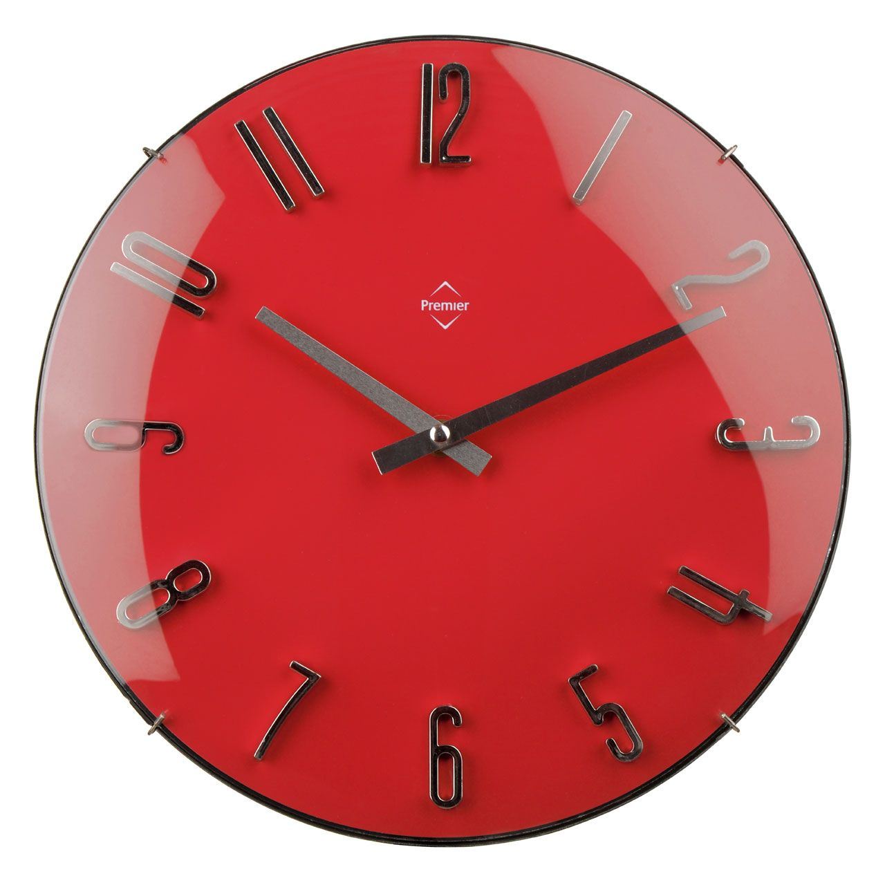 Premier housewares red wall clock 2200585 add a touch of premier housewares red wall clock 2200585 add a touch of warmth and luxury to amipublicfo Images