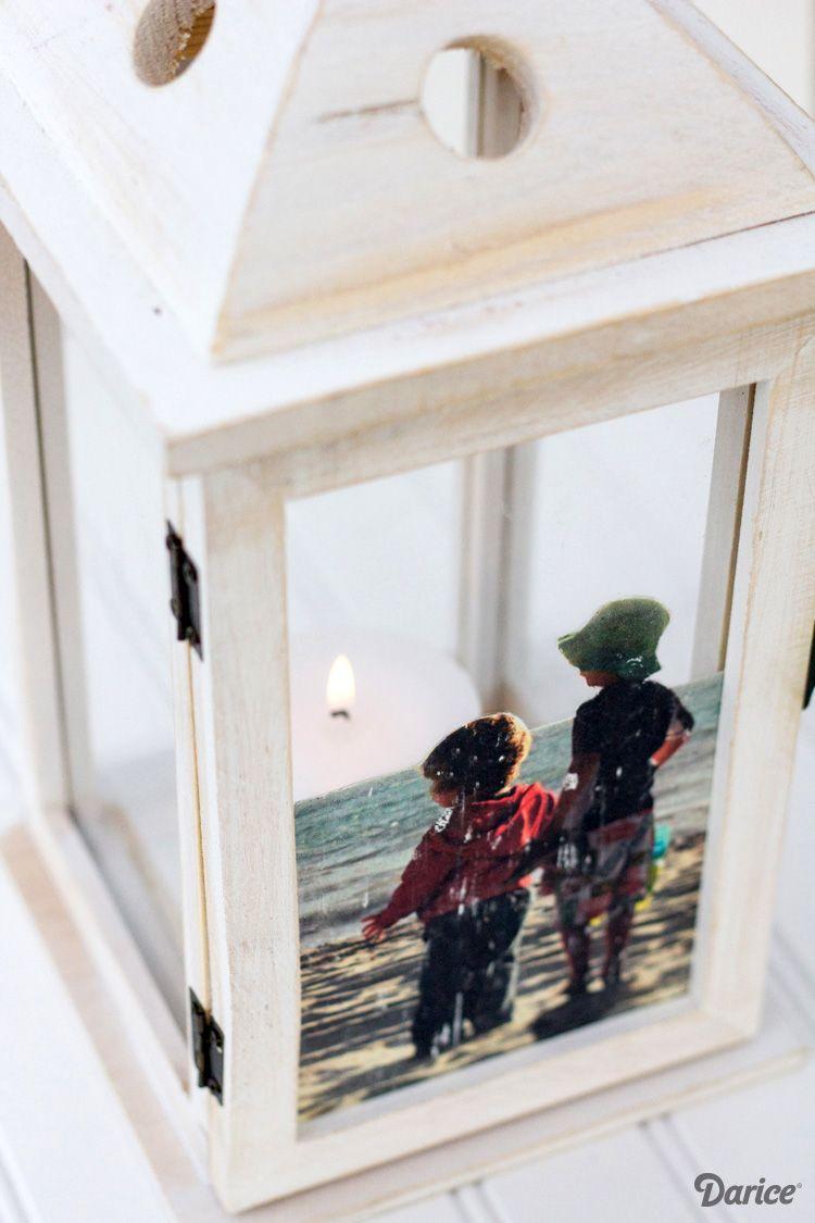 DIY Picture Frame Idea: Unique Lantern Frame - Darice | Pinterest ...