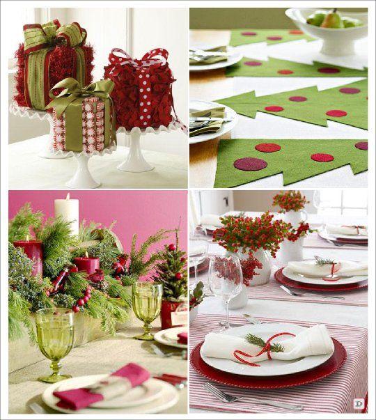 Decorations Table De Noelen Gris