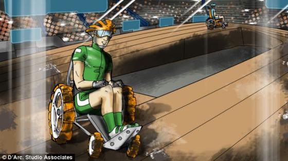 Poder cadeira de rodas Corrida vai exigir destreza para manobrar o Curso