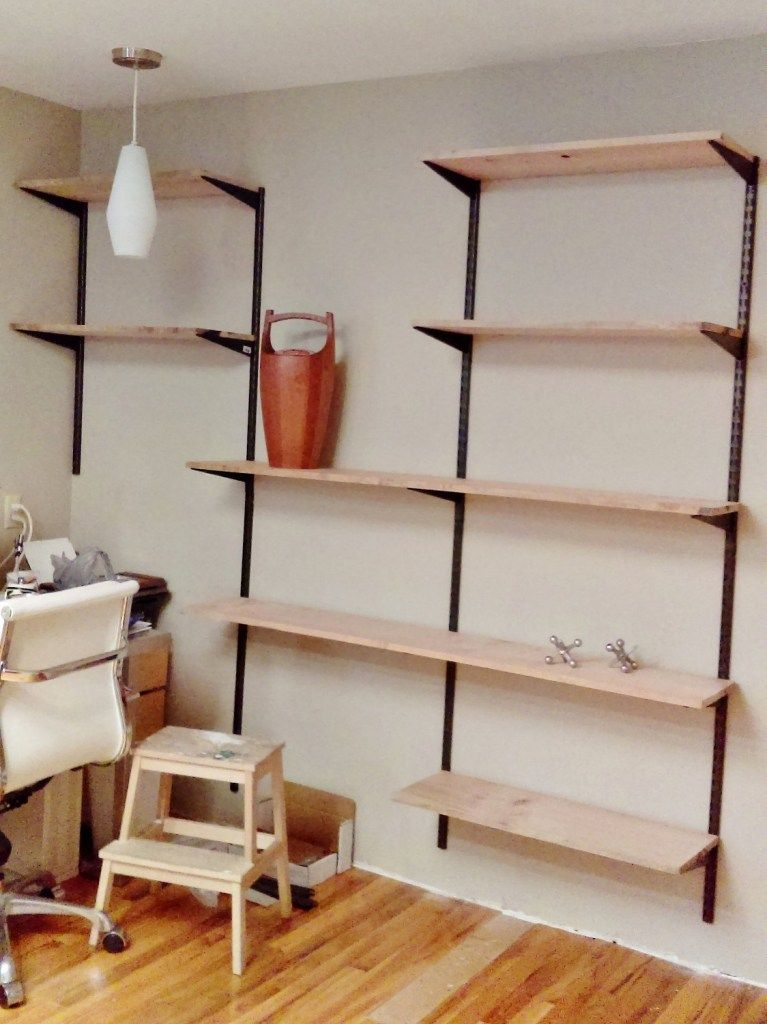 Build Your Own Mid Century Modern Wall Unit In 2020 Mid Century Modern Shelves Wall Shelving Units Modern Shelving