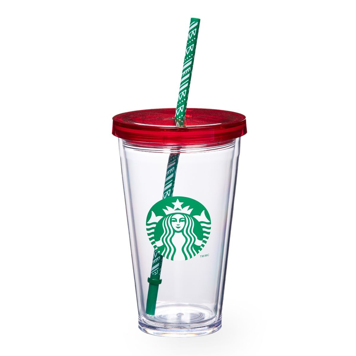 A sturdy, Grande-size plastic Cold Cup with a two-toned ...