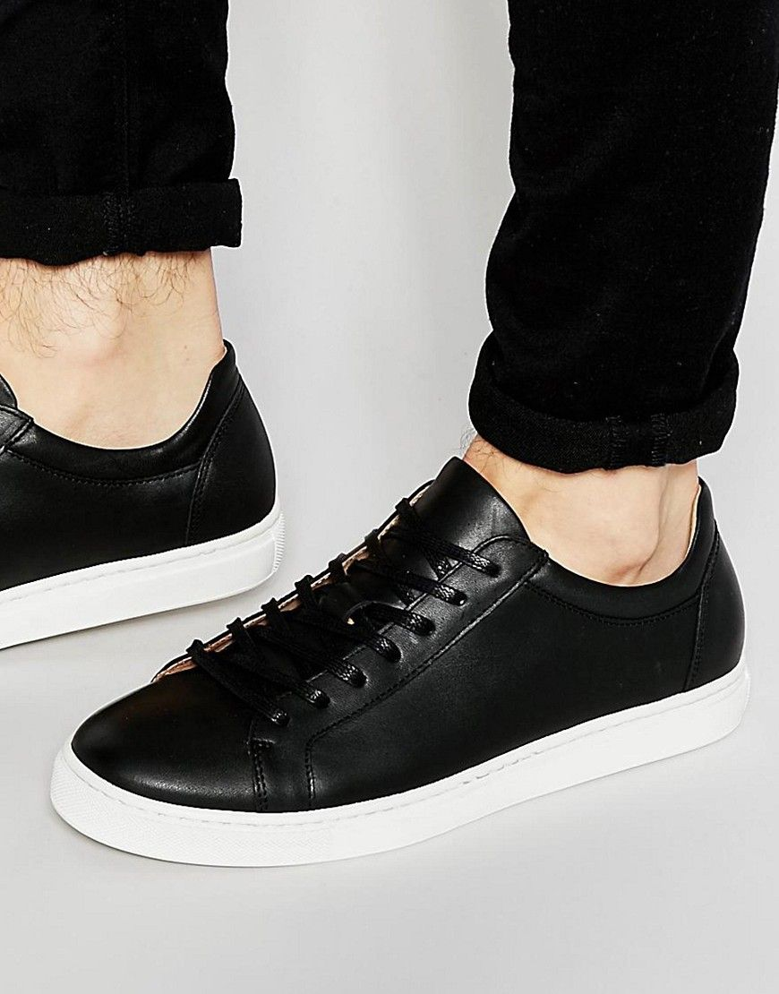 Leather · Image 1 of Selected Homme Dylan Leather Sneakers