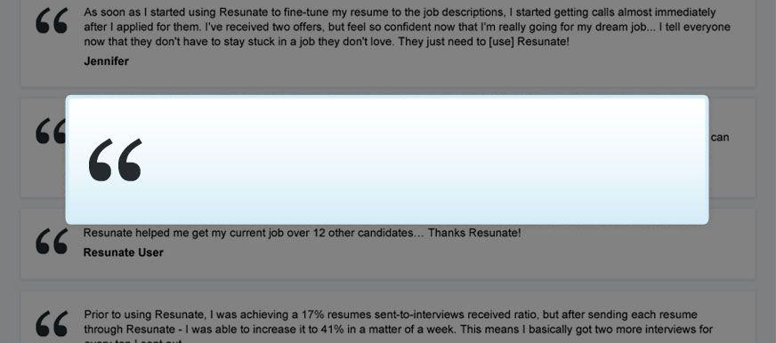 Smart Resume Builder Resunate The Only Smart Online Resume Builder  Workproductivity .