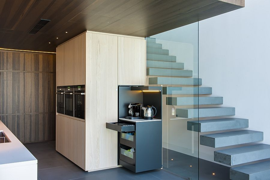 Hidden Kitchen Design Contemporary Kitchen In Sydney Blends Cuttingedge Style With