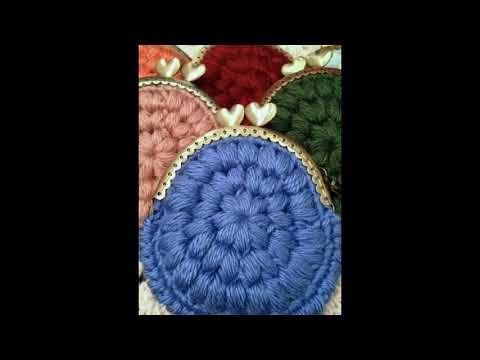 Monederos tejidos en ganchillo - YouTube comida Pinterest