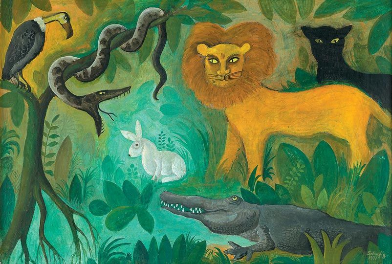 Hans Scherfig Animal Paintings Painting Art