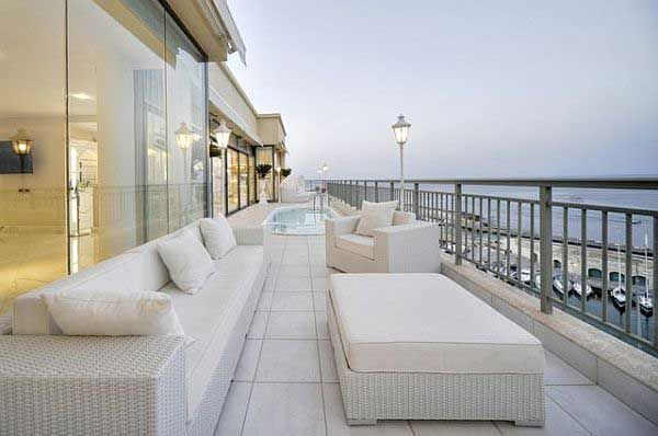 Luxury Penthouse Terrace with Glamorous Furniture Design  Luxury Penthouse Terra… Terrace