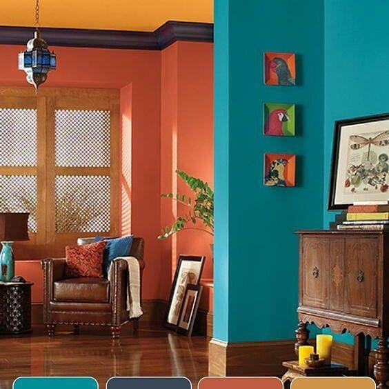 Gamas de colores para tu casa 😍 en 2020 | Techo de color ... on Tendencias Cortinas Salon 2020  id=57875