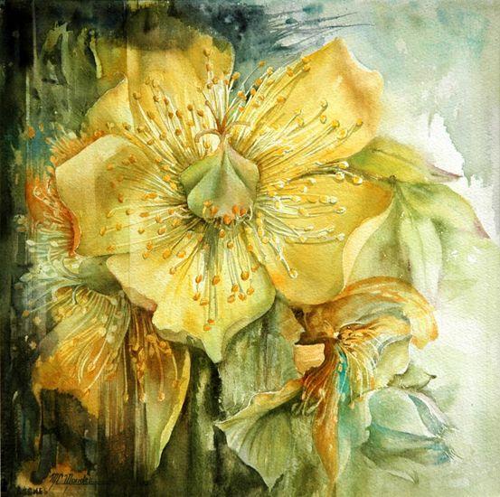 Moudru Marie Claire Peinture Fleurs Fleurs Aquarelle Fleurs