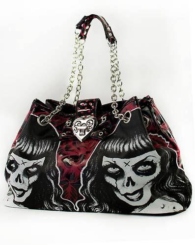 TOO FAST PIN UP PURSE BOWLING GOTH Patti Bag Glamour PUNK EMO GOTHIC ROCKABILLY.  Um $50---ok