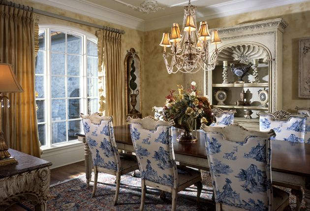 Etonnant French Country Dining Room Set Thomasville | French Country House Plan With  Gorgeous Dining Room And Floor Plan.