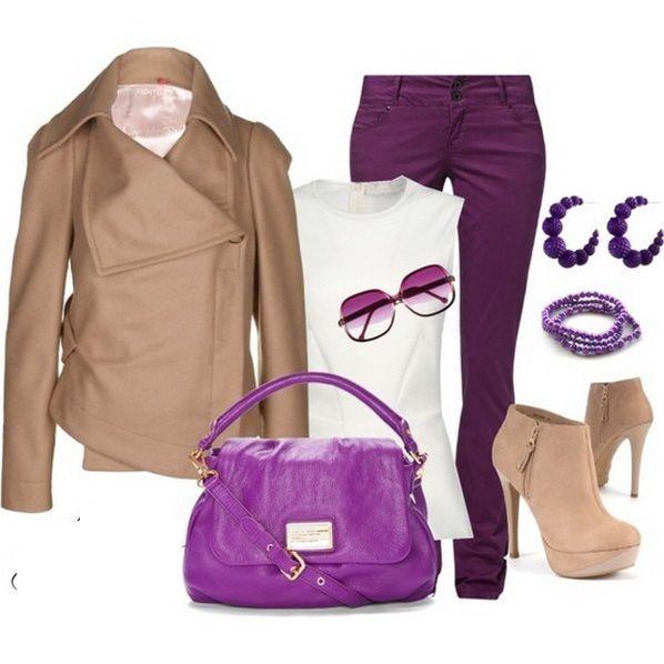 Outfits pantalon morado buscar con google - Combinar color lila ...