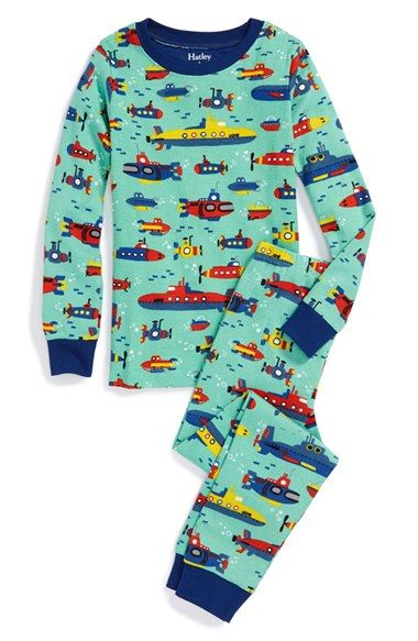 Hatley Submarine Print Two Piece Fitted Pajamas Toddler