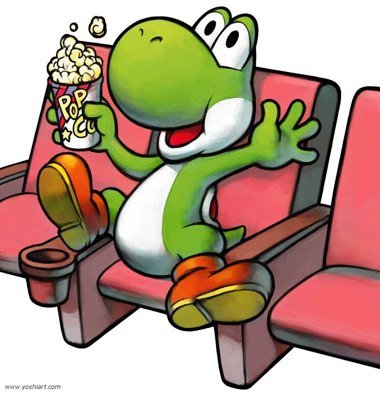 Yoshi In The Movie Theater Mario Luigi Partners In Time