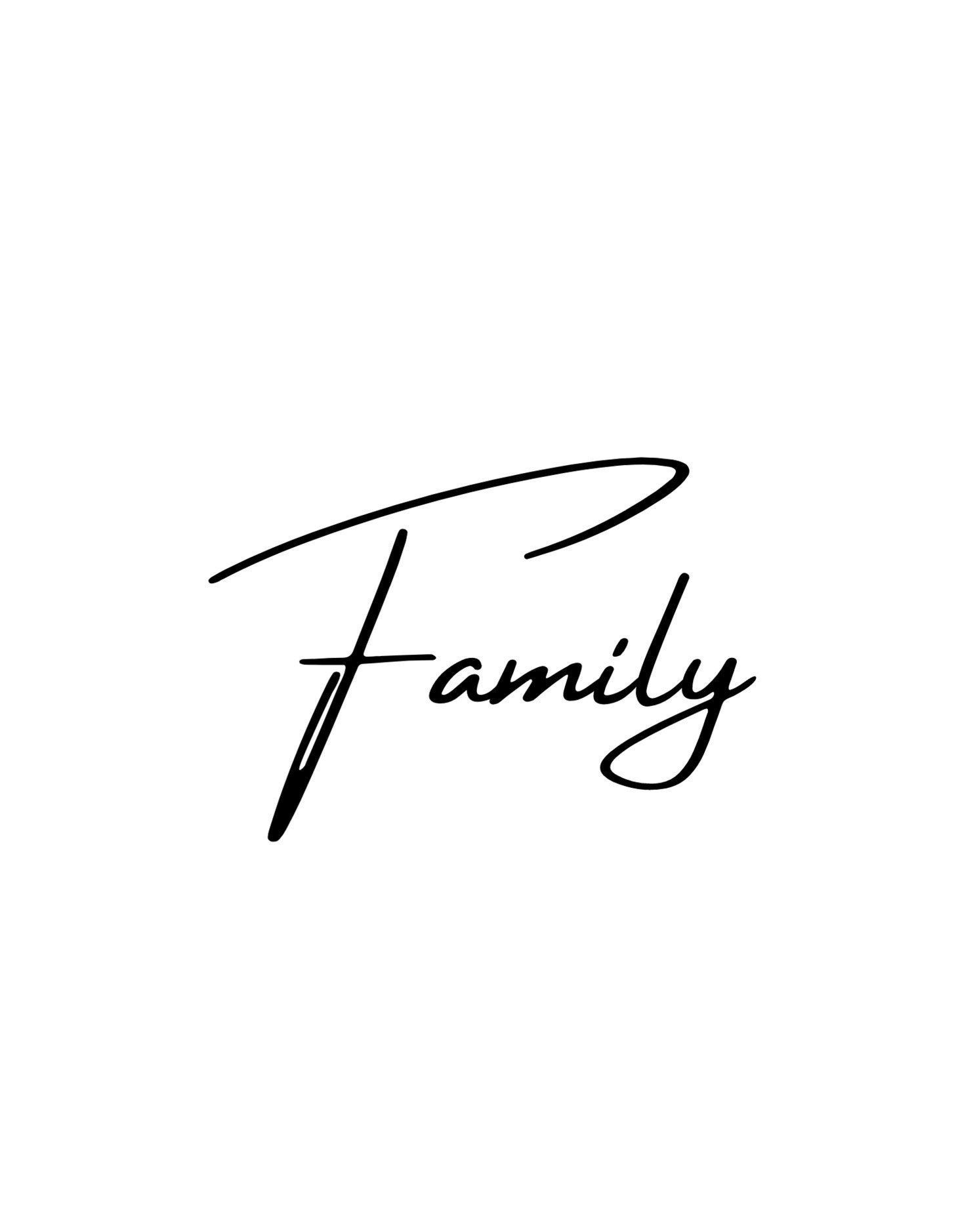 Family Word Digital File Svg Png Jpg Cricut Silhouette Etsy Word Families Cricut Digital Files