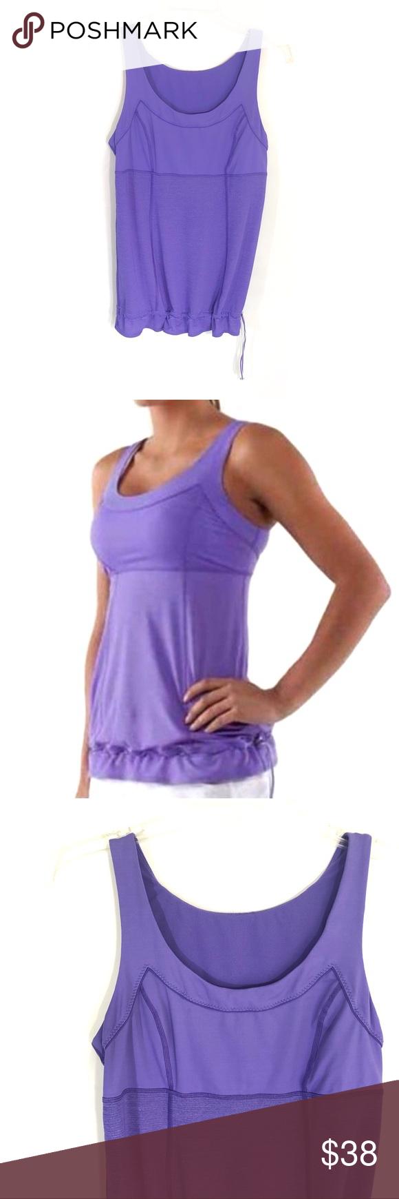 Lululemon Purple Run Tame Me Workout Tank Size 8 Clothes Design Athletic Tank Tops Workout Tanks