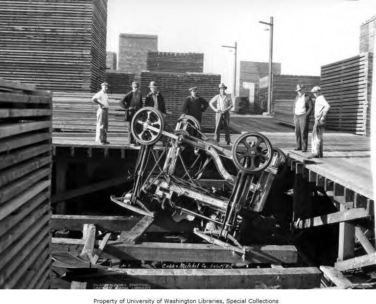 Cobb mitchel hyster lumber carrier wrecked oregon