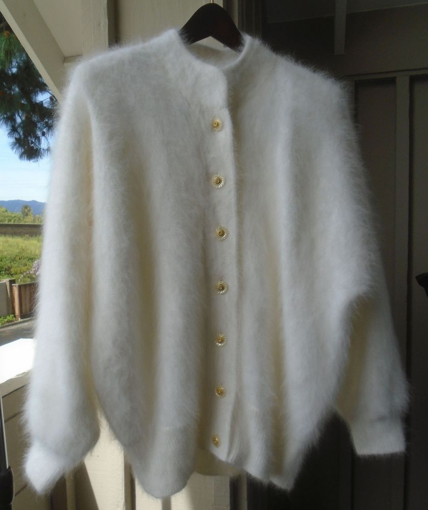 Women's Sweater - BELLDINI - 40% Angora - 7-Button Cardigan ...