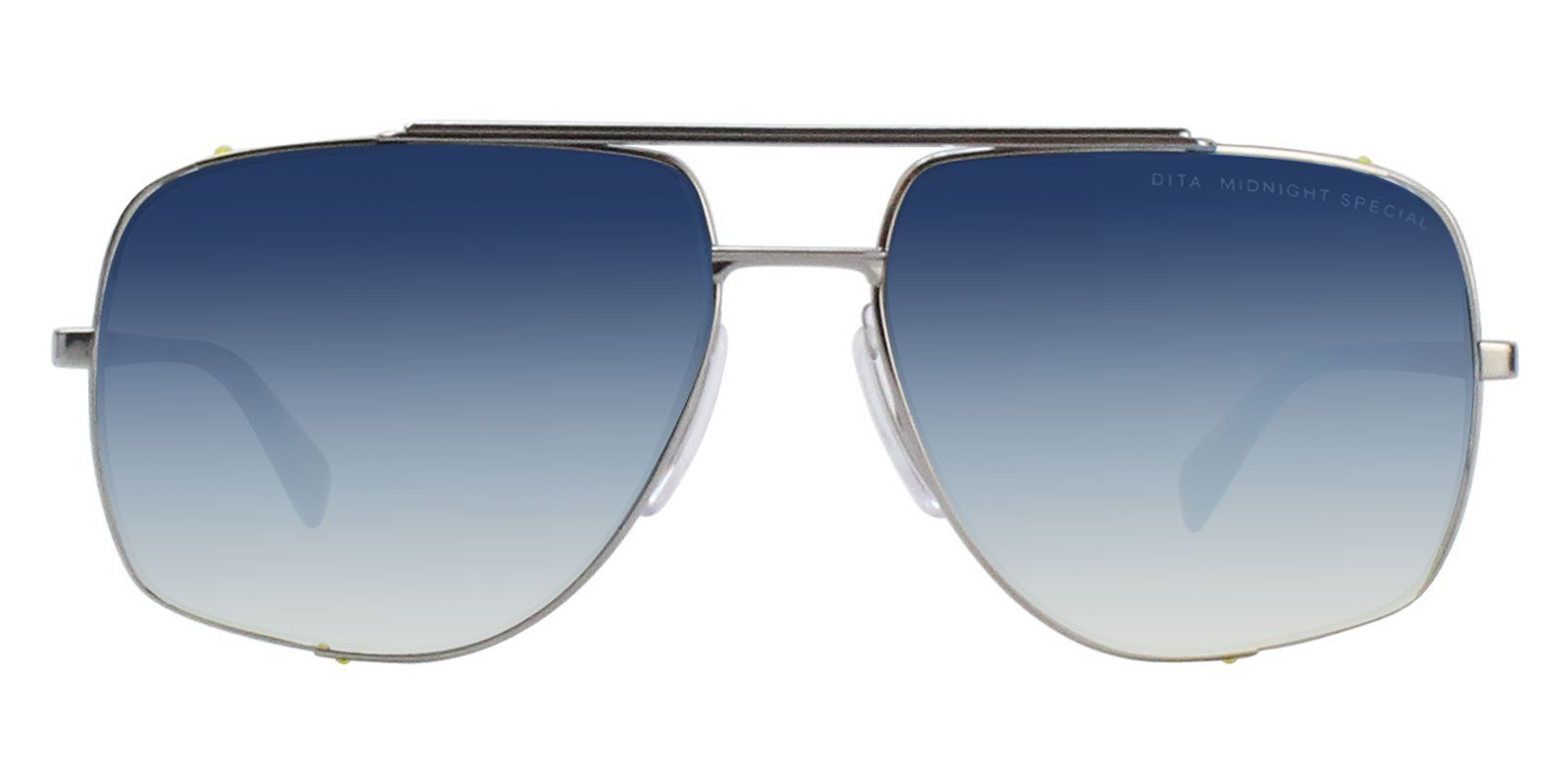 18b47cd77a6 These Dita Midnight Special sunglasses are beautifully handcrafted with  premium mental. The black and blue midnight special double bridge aviators  feature a ...