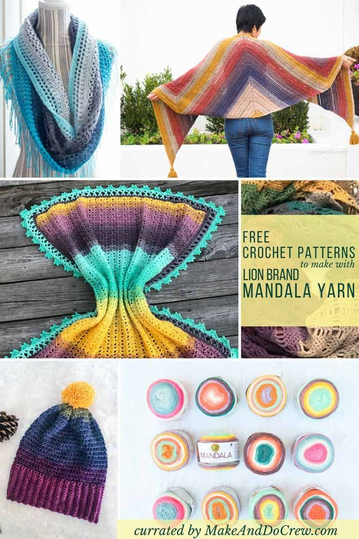 15+ Lion Brand Mandala Yarn Free Crochet Patterns | Diy | Pinterest ...