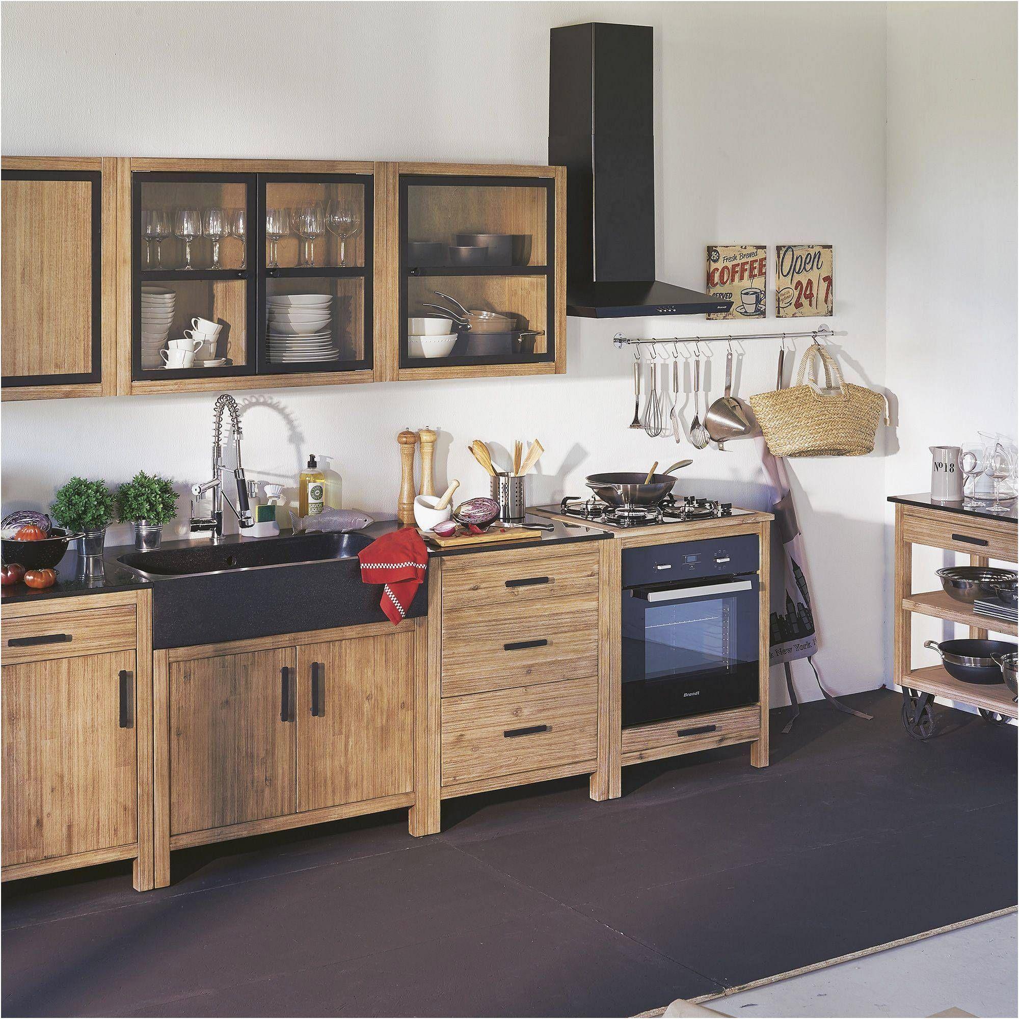 Lys Meuble De Cuisine Haut A Portes Vitrees 110cm Alinea Lys Meuble Cuisine Meuble Haut Cuisine Idee Deco Cuisine