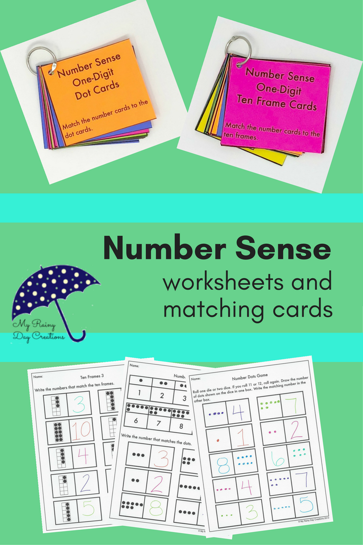 Number Sense Worksheets (1 - 10) | Ten frames, Worksheets and Number