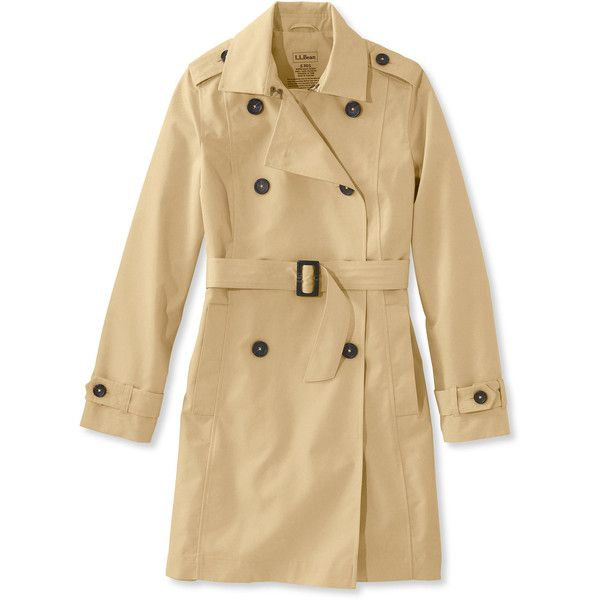 8df8541c13 L.L.Bean Crosstown Trench Coat ( 119) ❤ liked on Polyvore featuring plus  size women s