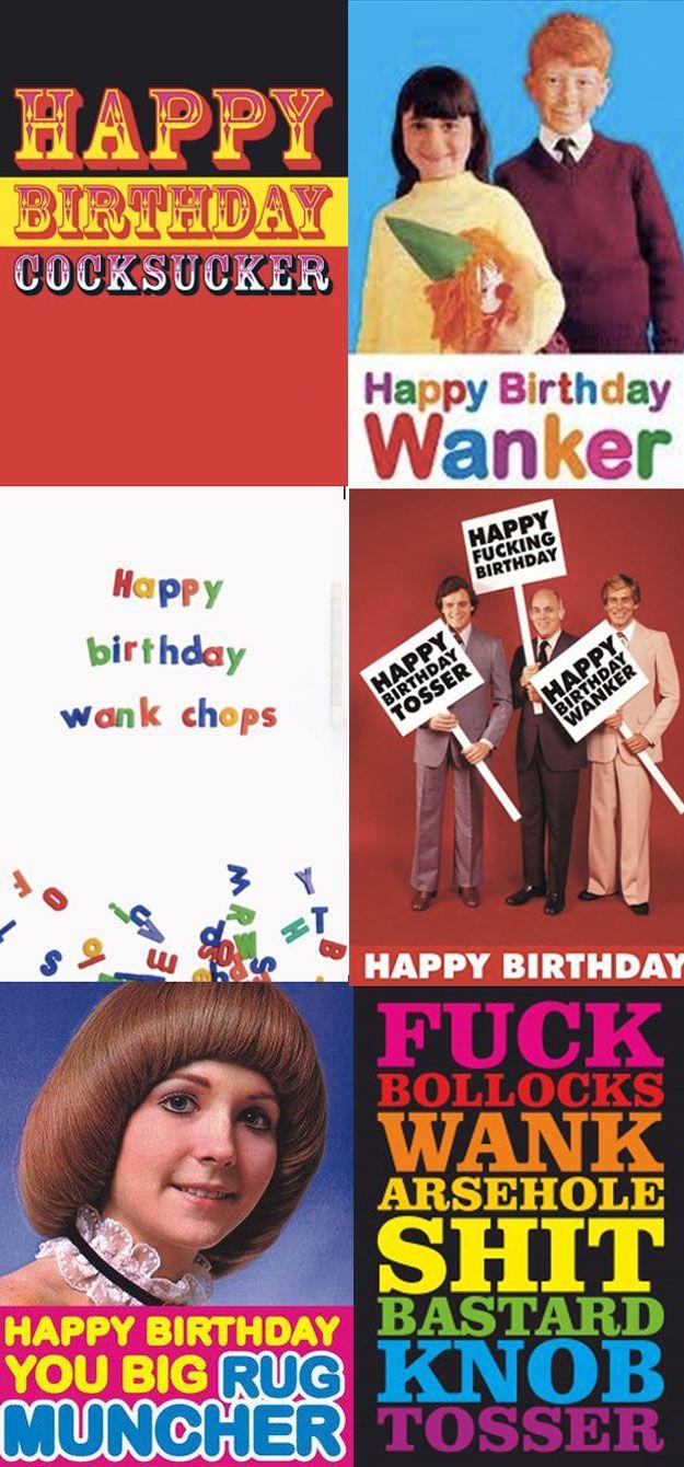 Offensive Birthday Cards Offensive Birthday Cards British People Little Britain