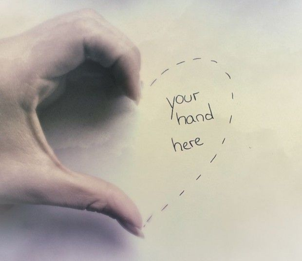 Your hand here...