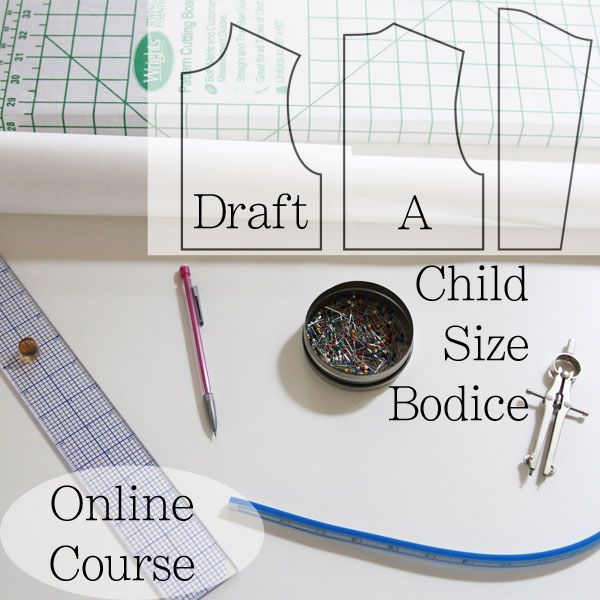 How to Draft Childrens Patterns - Child's Bodice Block - Online Course - Melly Sews