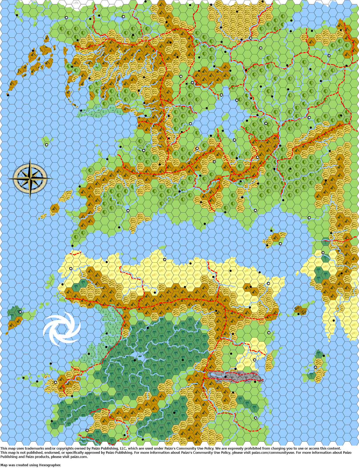 Hex Oxs Hex Maps World Building Hex Map Map Fantasy Map