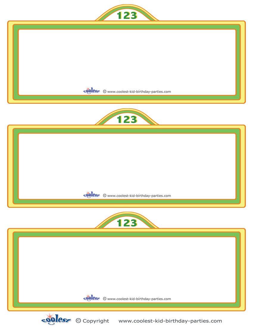 Free Sesame Street Templates Printable Sign Invitation Coolest Printables