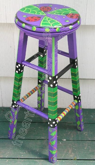 hand painted chairs | hand painted chairs, stools, benches, seating ...