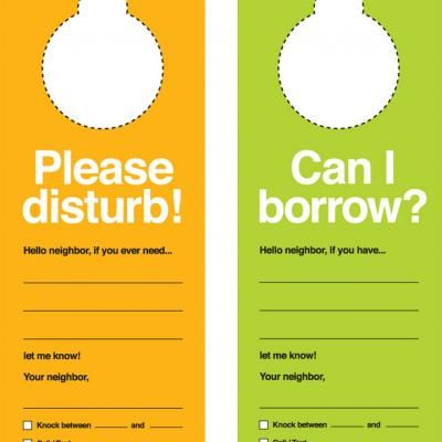photo relating to Printable Door Tags named Printable Neighbor Doorknob Hangers Papers/Printables