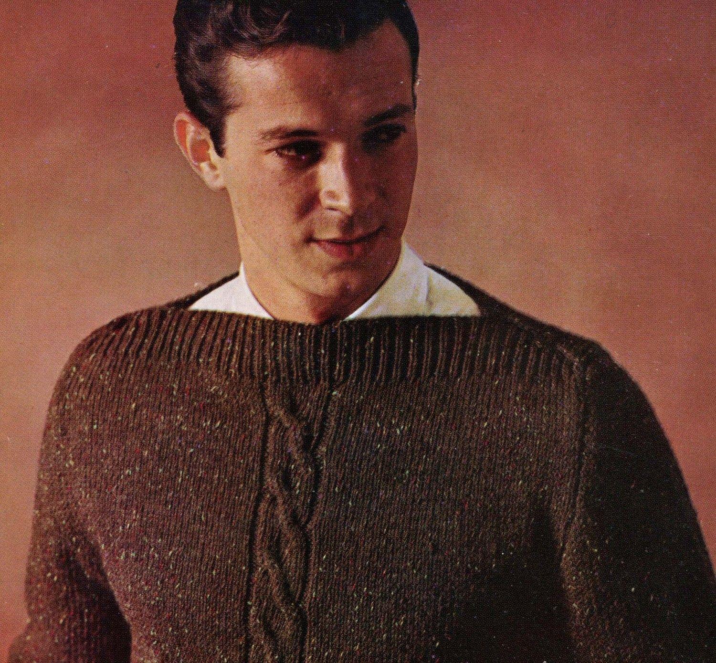 Mens 1960s vintage boatneck pullover with front center vintage mens 1960s vintage boatneck pullover with front center bankloansurffo Images
