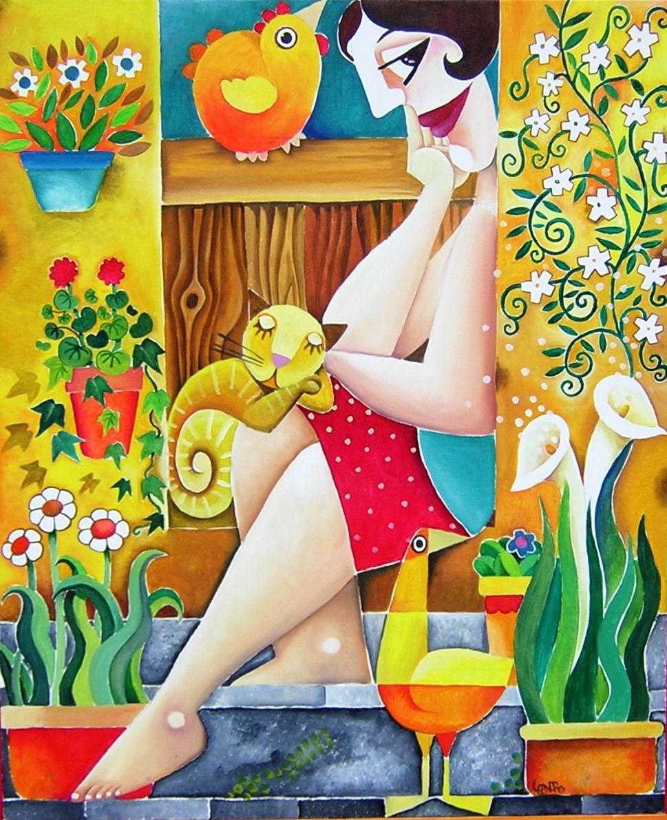 Leandro Lamas - Gatos. | Arte caprichoso, Producción artística y ...